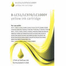 Compatible Brother LC970Y Yellow ink cartridges