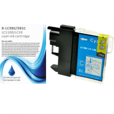 Compatible Brother LC980C Cyan ink cartridges
