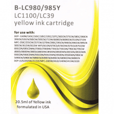Compatible Brother LC985Y Yellow ink cartridges