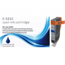 Compatible Canon CLI-521C Cyan ink cartridges