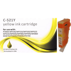 Compatible Canon CLI-521Y Yellow ink cartridges