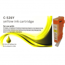 Compatible Canon CLI-526Y Yellow ink cartridges