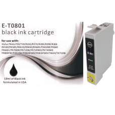 Compatible EPSON T0801 ink cartridges Black C13T08014010