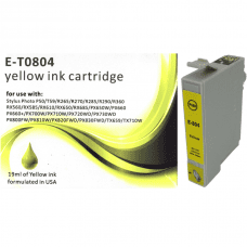 Compatible EPSON T0804 Yellow ink cartridges C13T08044010