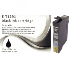 Compatible Epson T1291 ink cartridges Black C13T12914011